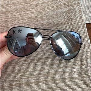Free people aviator mirrored glasses